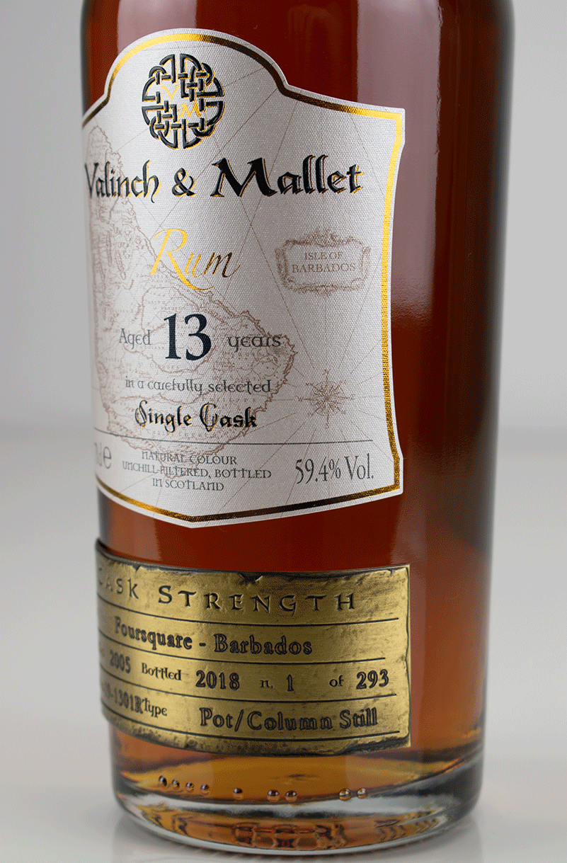 Foursquare 13 label 2 Valinch & Mallet Single Blended Rum