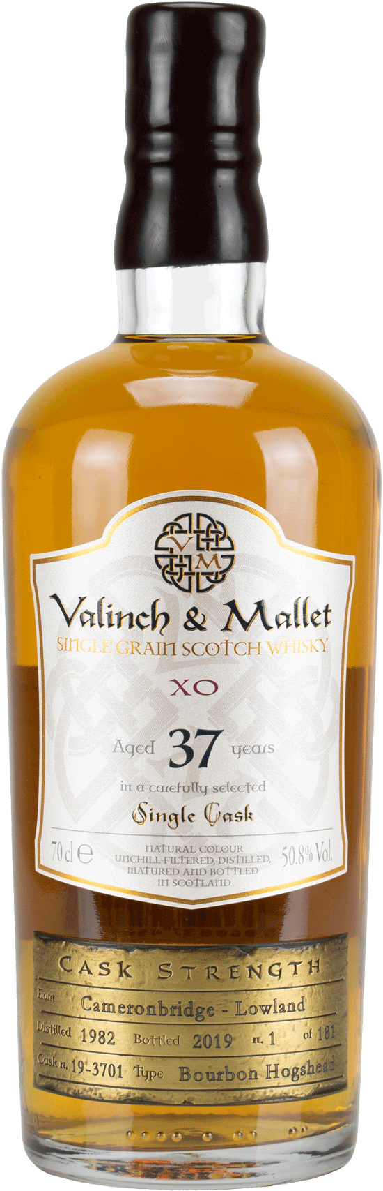 Cameronbridge 37 Valinch & Mallet Single Grain Scotch Whisky