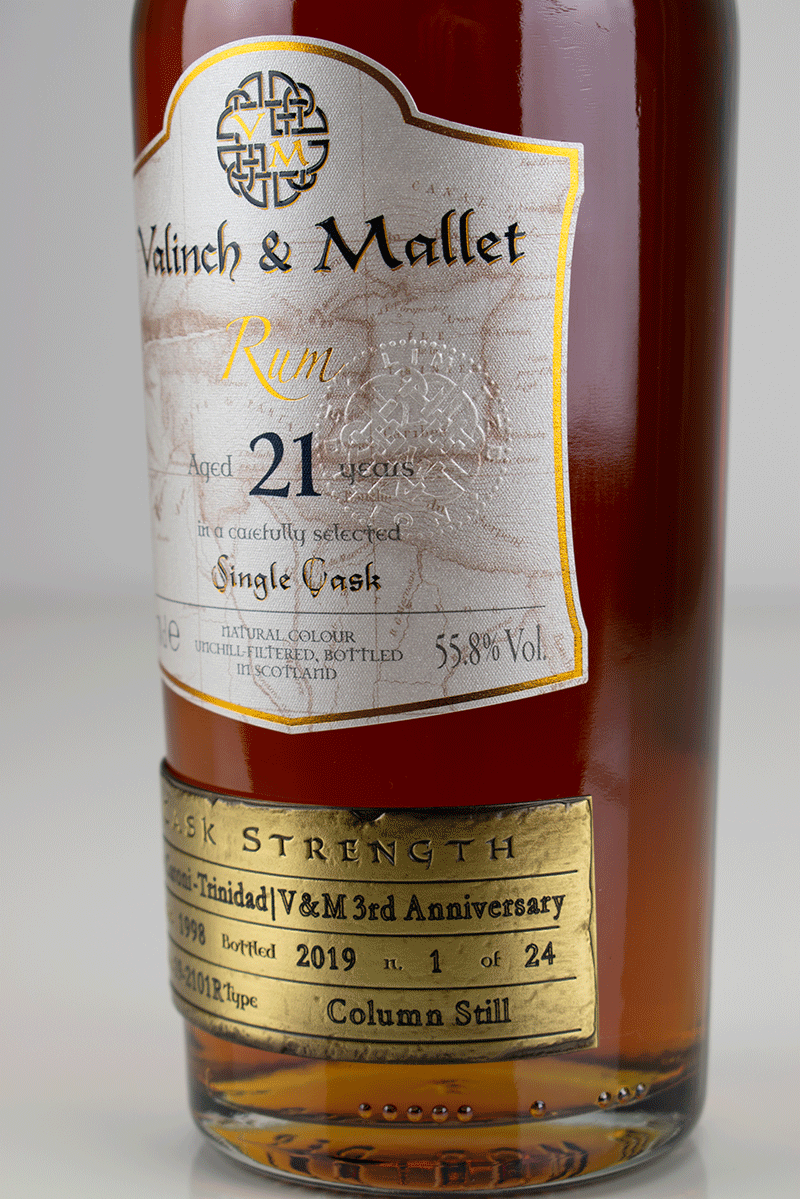 Caroni 21 label 2 Valinch & Mallet Traditional Rum