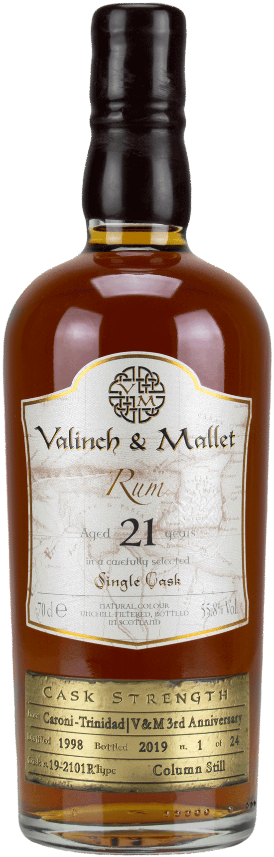 Caroni 21 Valinch & Mallet Traditional Rum
