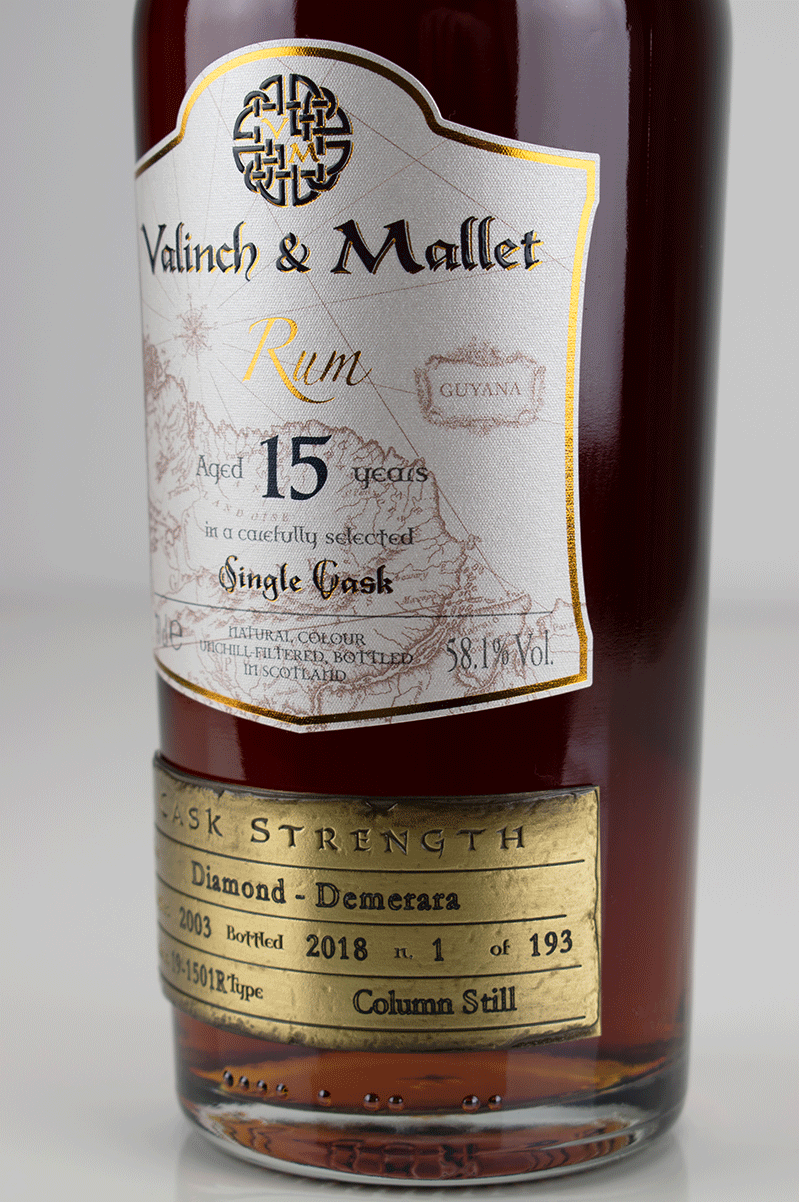 Diamond 15 label 2 Valinch & Mallet Traditional Rum