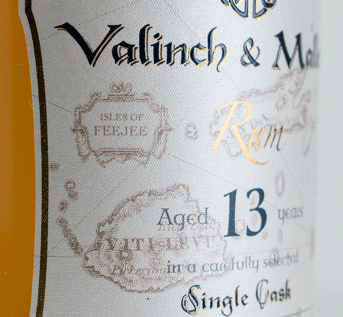 Fiji label 2 Valinch & Mallet Pure Single Rum