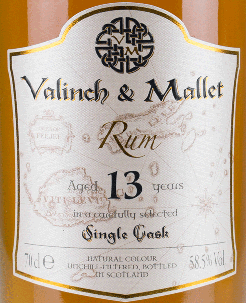 Fiji label Valinch & Mallet Pure Single Rum