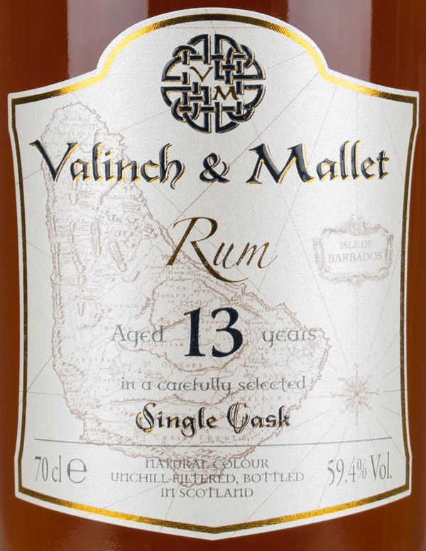 Foursquare 13 label Valinch & Mallet Single Blended Rum