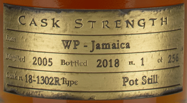 Jamaica WP plaque Valinch & Mallet Pure Single Rum