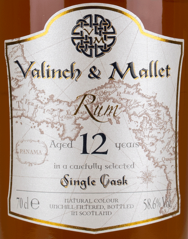 Panama 12 label Valinch & Mallet Traditional Rum