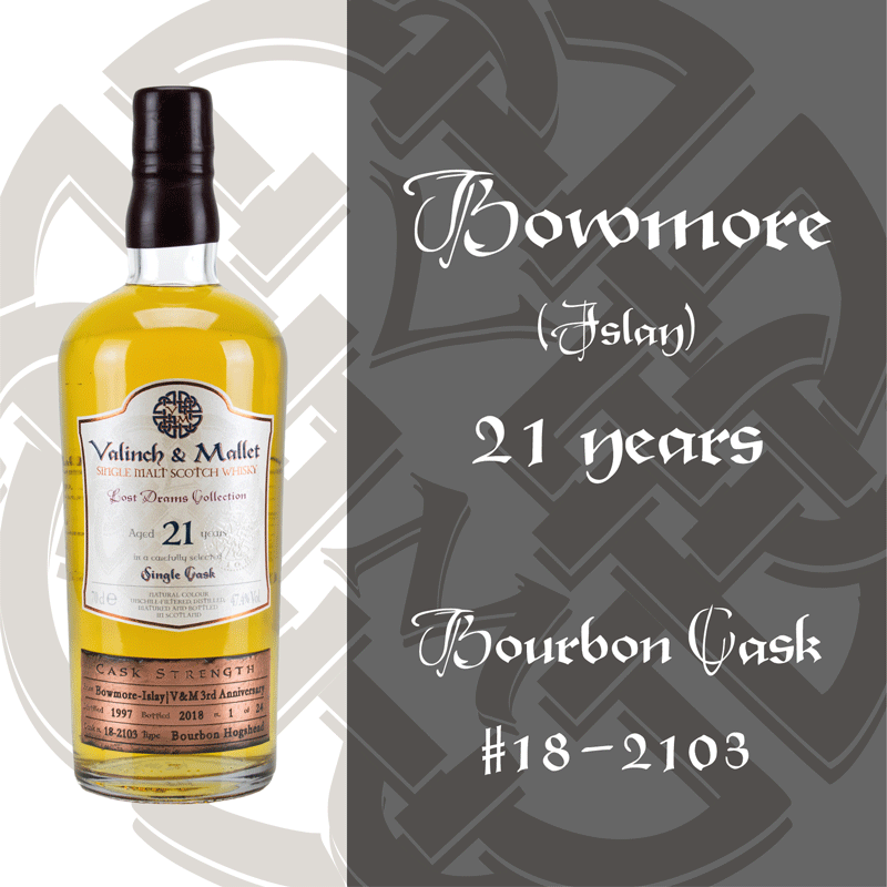 Bowmore 21 Valinch & Mallet Single Malt Scotch Whisky