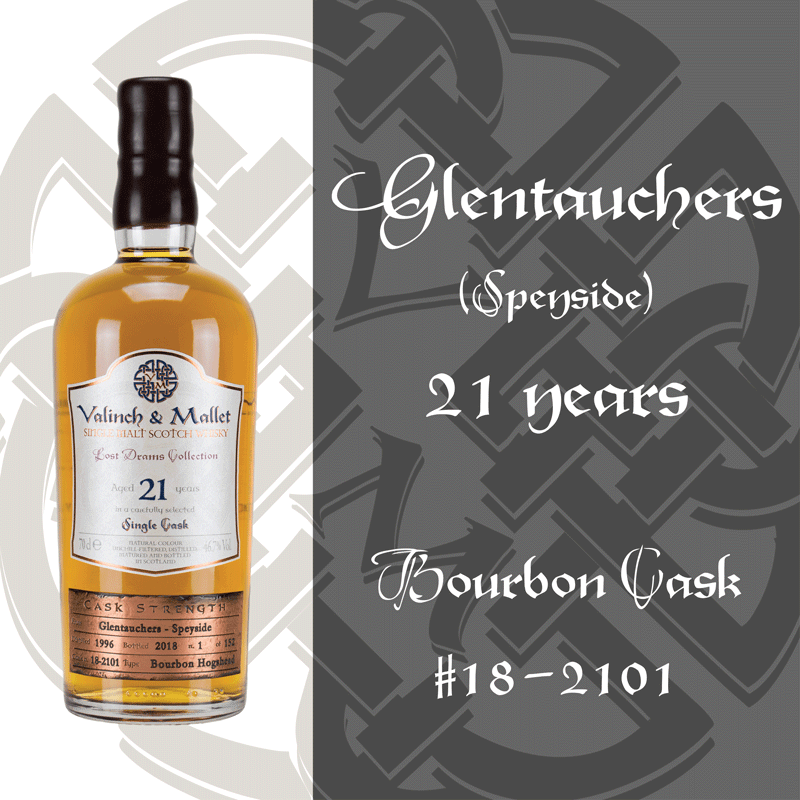 Glentauchers 21 Valinch & Mallet Single Malt Scotch Whisky