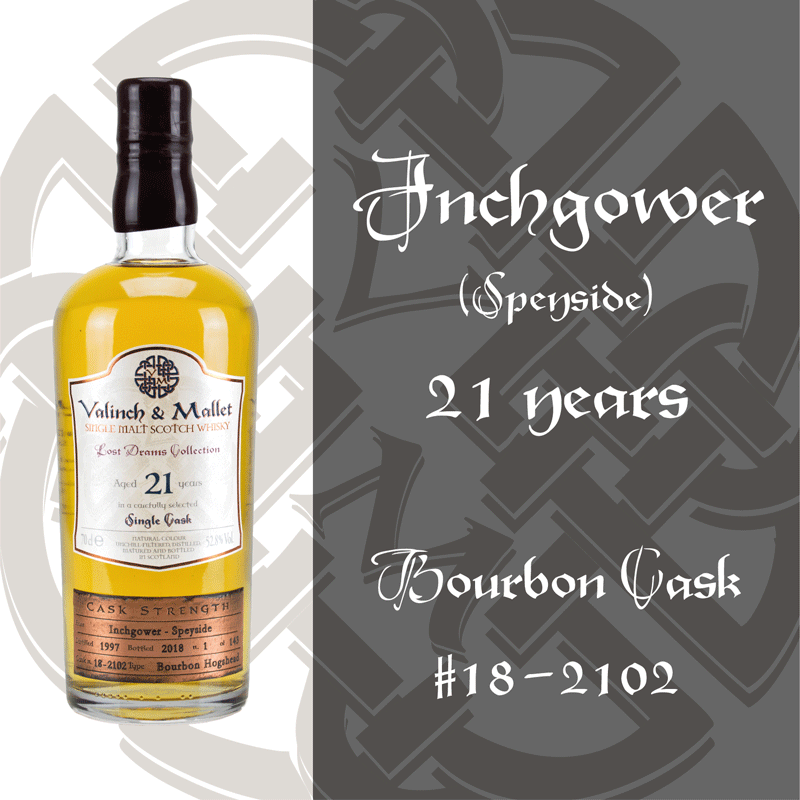 Inchgower 21 Valinch & Mallet Single Malt Scotch Whisky