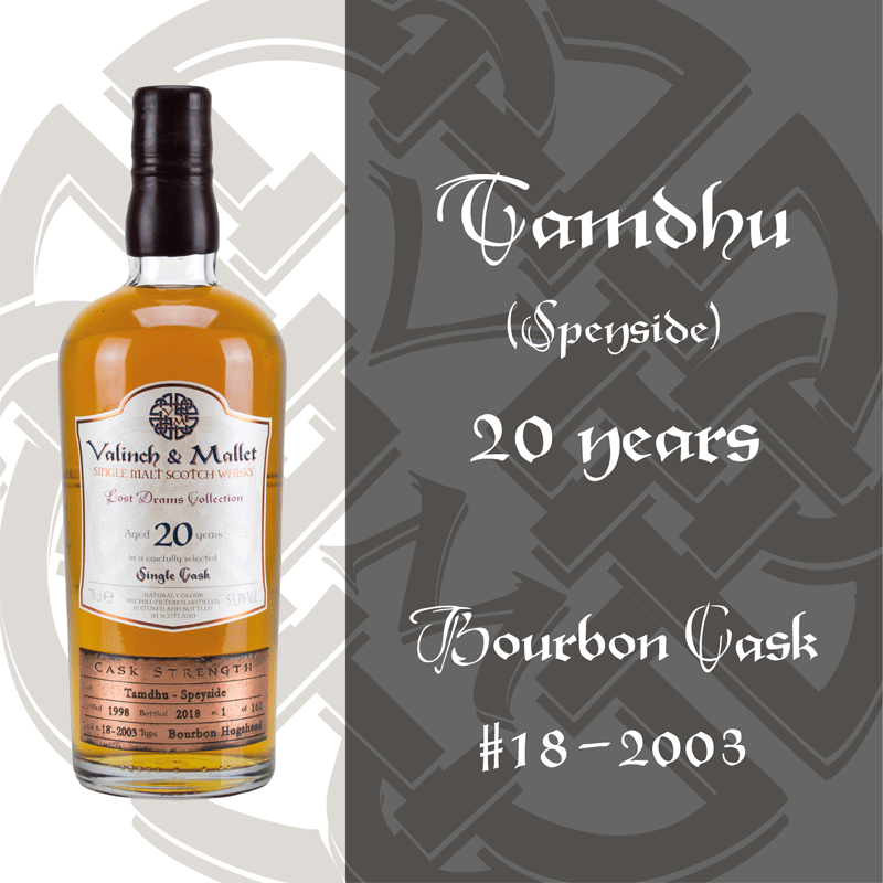 Tamdhu 20 Valinch & Mallet Single Malt Scotch Whisky